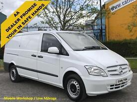 2012 / 61 Mercedes Vito 113CDI Long [ Low Mileage ] Low Roof Panel Van Twin/sld