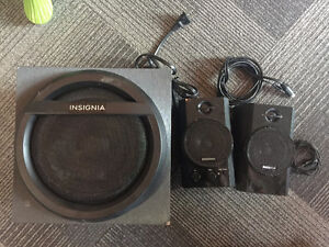 Insignia Computer speakers with sub