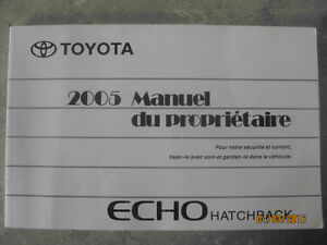 2005 Toyota Echo Hatchback Manuel proprio/Owner's Manual