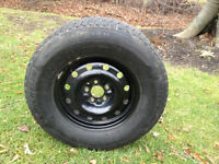 4X 245/70R16 Michelin Snow Tires - Like New Rims
