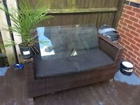 Ratten table two chairs and sofa