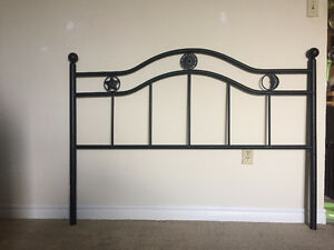 Headboard with bedframe