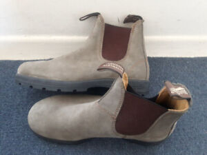 Brand New Green-Grey Blundstones, Never Been Worn