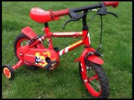 Kids Bike - Apollo Firechef Rescue Boys Bike with Stabilizers 12