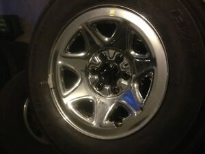 GM or Chevy 1/2 rims and tires. New take offs 2 different sets