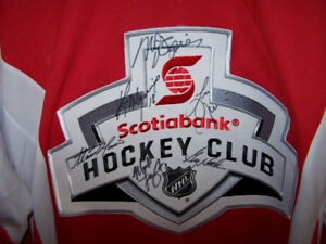 XL Scotia Bank Home Town Hockey Jersey - signed by 6