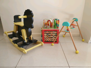Wooden baby and toddler toys