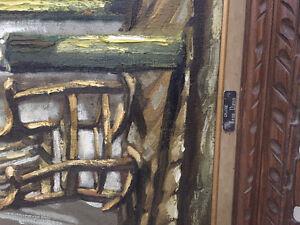 Cadre avec peinture de galerie Jean viens