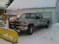 1994 Chevrolet K1500 Pickup Truck with Plow