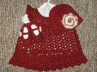 Crocheted Baby dress set