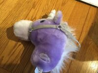 Gorgeous purple unicorn 'hobby horse' with Clip Clopping sound!