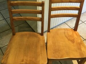 Antique wood school house chairs (4)