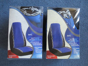2 New Blue & Black Car Elegant Universal Bucket Seat Covers Kitchener / Waterloo Kitchener Area image 1