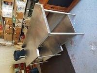 2 Quest stainless prep tables