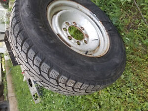 245/75R16 GMC savanna Rim and tire 8x165 ,,,$65
