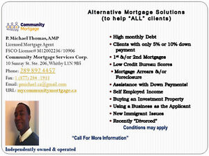 Alternative Mortgage Solutions to Help ALL Clients...