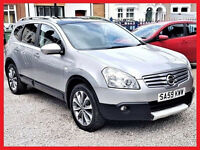 (7 Seater) 2009 Nissan QASHQAI+2 -- Automatic dCi N-Tec-- DIESEL Auto -- Pan Glass Roof --Part Ex OK