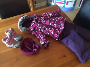 12 month girls snowsuit and size 5 toddler boots