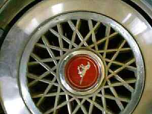 70's Ford Mustang Metallic Hubcaps
