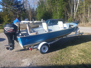 16ft Lund Pike, Deep Wide, 50hp 4-stroke boat for sale