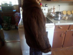3/4 MEDIUM SIZE MINK COAT AND 2- MINK PELT SCARF 400.00