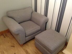 Dfs armchair and storage footstool