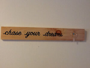 Chase Your Dreams Sign with Dream Catcher