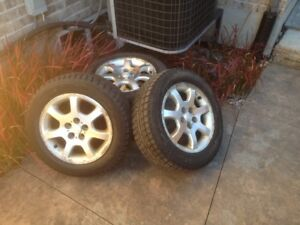 WHY WAIT TILL WINTER -15 Inch Snow Tires with rims