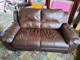 2 x 2 seater leather sofas Free