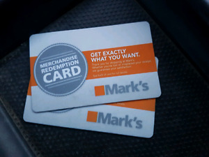 $151 Mark's Gift Cards