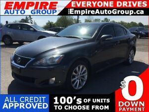 2009 LEXUS IS 250 LUXURY * AWD * LEATHER * SUNROOF * SAT RADIO S