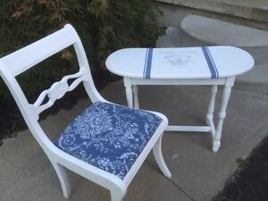 French inspired accent table and chair  Cambridge Kitchener Area image 3