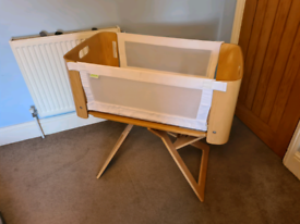 Wooden next to me/cot bed