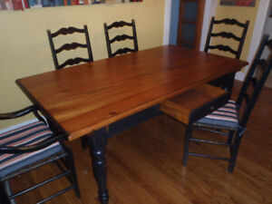 Solid Wood, french country dining room table and chairs