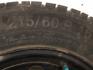 Snow Tires,plus rims,size 215/60/16,good condition,make Gislaved