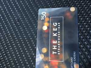 50$ the Keg gifts card