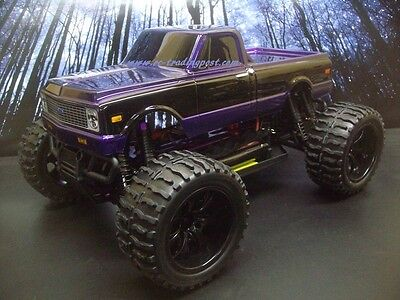 1972 Chevy C10 Custom Painted 4X4 Volcano EPX 1/10 RC Monster Truck Waterproof, used for sale  Shipping to Canada