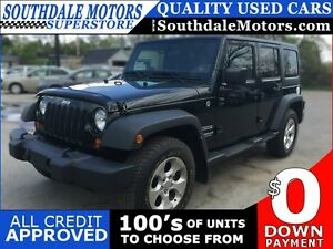 2012 JEEP WRANGLER UNLIMITED SPORT * 4WD * CRUISE CONTROL