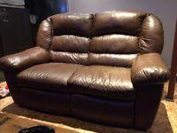 sofa 2 places inclinables en cuir