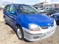 2002/02 Nissan Almera Tino 1.8 SE LOW MILEAGE EXCELLENT RUNNER