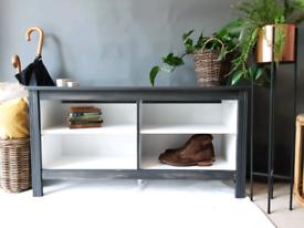 IKEA long storage bench/sideboard/shelve. Ash Grey . TV unit