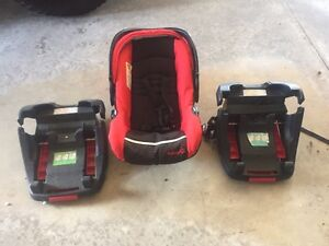 Safety First Car Seat with 2 bases