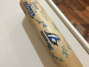 Autographed 2004 Toronto Blue Jays mini bat