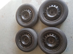 15 inch 5x100 snow tire and rims