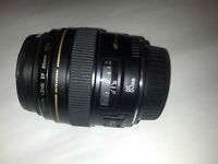 Canon EF 85mm f/1.8 USM Used Lens with Tiffen 58mm UV Protector