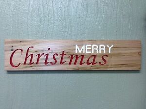 Merry Chistmas - Wood Carving