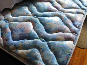 Double Mattress and boxspring and railings for sale