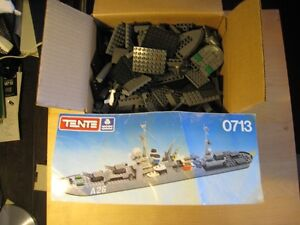 Box of Tente Toy Pieces - Like Lego