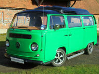 1972 2 berth VW T2 Camper Van with Porsche style extras and pop top roof