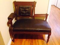 Antique Chair on Casters - This Chair is Very Nice